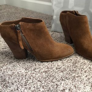 Dolce Vita Brown Mule Ankle Boots